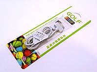 Кабель usb-Apple 30 pin iPhone 4/4s 1м Golf GC-01m rainbow series белый