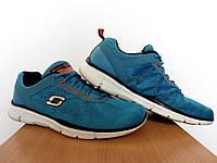 Кроссовки Skechers 100% Оригинал р-р 42 (27см)  (б/у,сток) беговые сетка лёгкие синие  asics