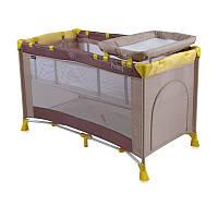 Кровать-манеж Bertoni Penny 2 Layers Beige&Yellow