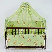 Набор в кроватку Жирафики салатовый