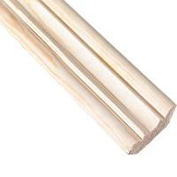 Плинтус фигурный срощеный Лесстроинвест 1 сорт 32х32х3000 мм сосна