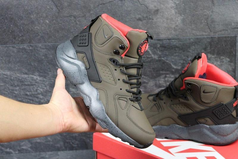 ... Чоловічі зимові кросівки Nike Air Huarache Winter бордові (3454) 911549fb79b4e