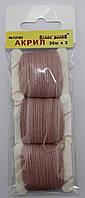 Акрил для вышивки: розовый пастельный