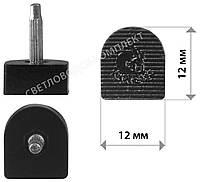 Набойки полиуретановые KANEIJI, р. 12*12 мм, штырь 2.9 мм, цв. черный