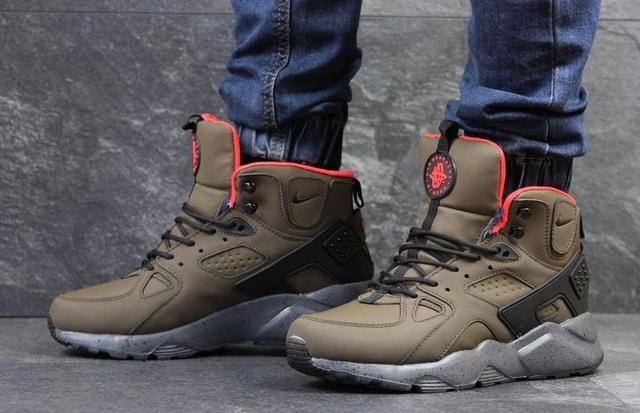Чоловічі зимові кросівки Nike Air Huarache Winter бордові (3454 ... 564cad091cd90