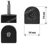 Набойки полиуретановые KANEIJI, р. 14*14 мм, штырь 2.9 мм, цв. черный