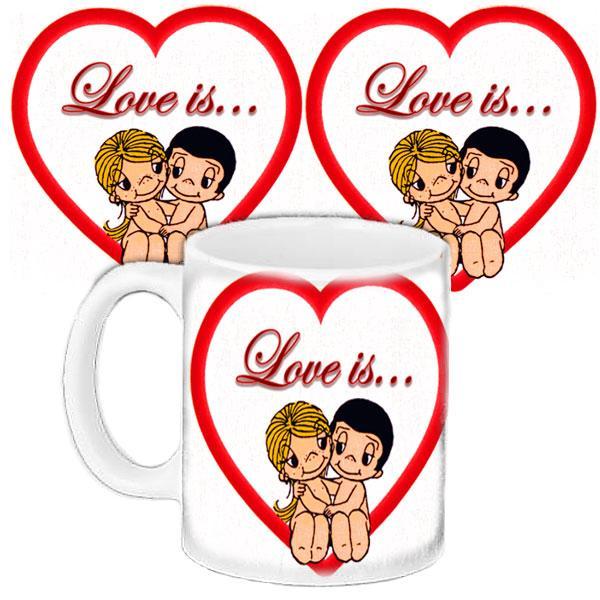 Кружка подарок с принтом Любовь это