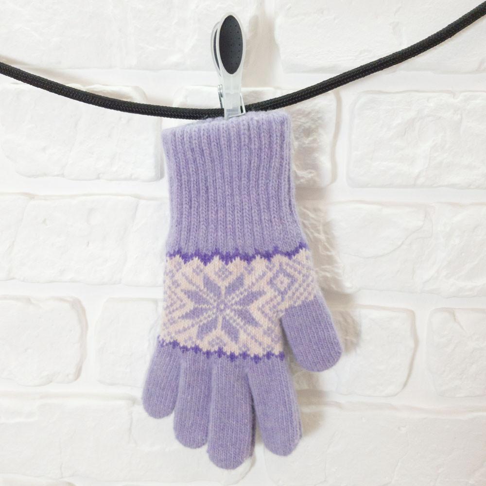 Перчатки из шерсти фиолетовый
