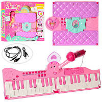 Детский синтезатор с микрофоном Beauty 106A: 40 клавиш, 13 функций