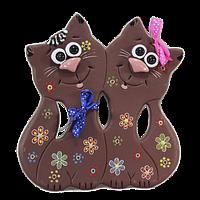 Сувенир «Коты в цветочек»
