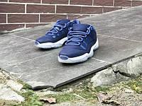 Кроссовки женские Air Jordan 11 Low Blue Moon 15445 темно-синие