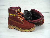 Ботинки женские CATERPILLAR 30582 бордовые