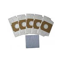 Бумажные мешки и фильтр 5 шт. для пылесоса Gorenje GB1  (PBU95/110)