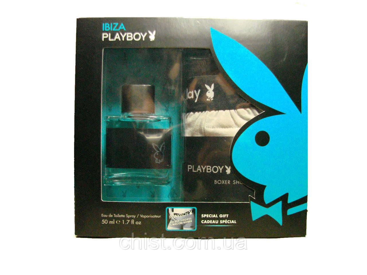 Playboy набор мужской Туалетная вода 50 мл Ibiza и трусы-боксерки!