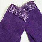 Перчатки из кашемира фиолетовые (Ш-429), фото 3