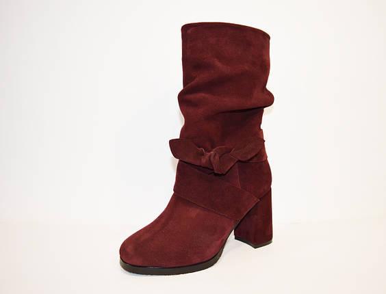 Женские бордовые ботинки Valiente Рина, фото 2