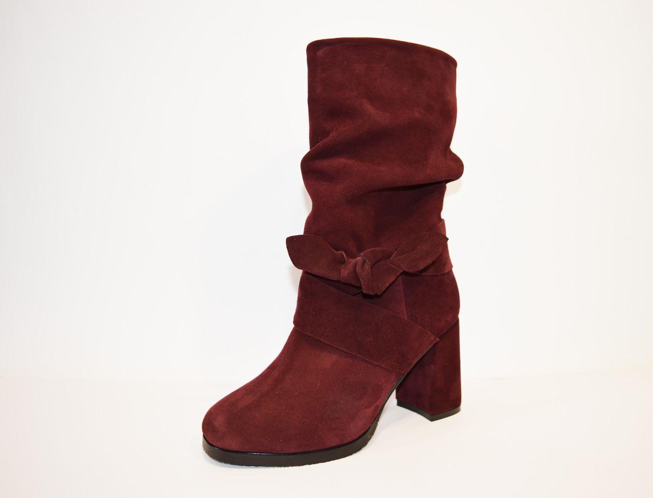 Женские бордовые ботинки Valiente Рина
