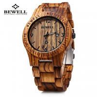 Часы бамбуковые деревяные Bewell Nut.