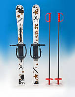 Набор лыжный детский Marmat 90см (лижы + палки) (4 цвета)