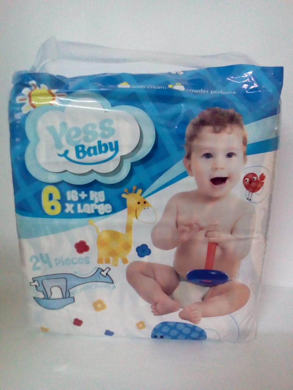 Подгузники Yess Baby Super 6 X Large 16+кг (24 шт) (4902)