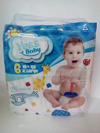 Подгузники Yess Baby Super 6 X Large 16+кг (24 шт) (4902) , фото 2