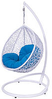 Детское подвесное кресло качель из искусственного ротанга. Он нетоксичен и может использоваться в детской комнате. Это кресло создано специально для детей с учетом их потребностей. Оно выдерживает нагрузку в 70кг, а стойка высотой 160см. Есть сертифи