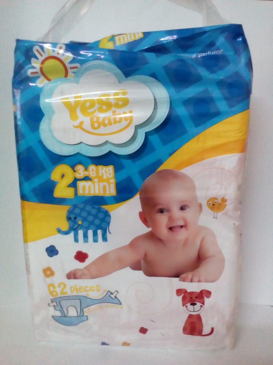 Подгузники Yess Baby Jumbo 2 Mini 3-6кг (62 шт) (4698)