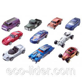 Базовый автомобиль Hot Wheels 10 шт.