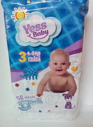 ПодгузникиYess Baby Jumbo 3 midi 4-9кг (56 шт) (4759) , фото 2