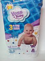 ПодгузникиYess Baby Jumbo 3 midi 4-9кг (56 шт) (4759)