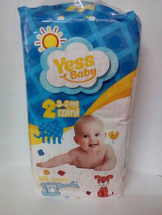 Подгузники Yess Baby Super 2 Mini 3-6кг (44 шт) (4681), фото 2