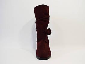 Женские бордовые ботинки Valiente Рина, фото 3
