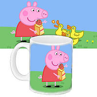Детская чашка с принтом Мультфильм Свинка Пепа