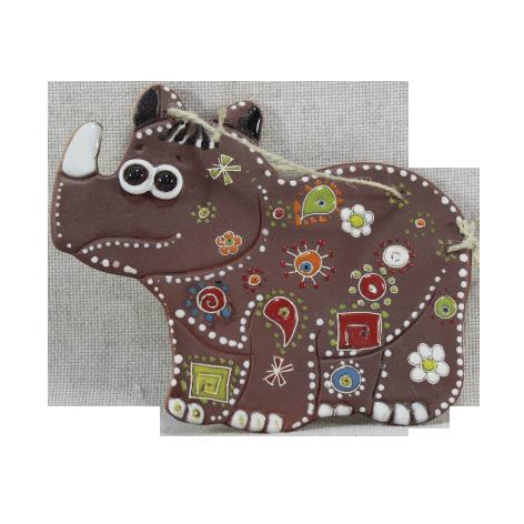 Сувенир керамический «Носорог»