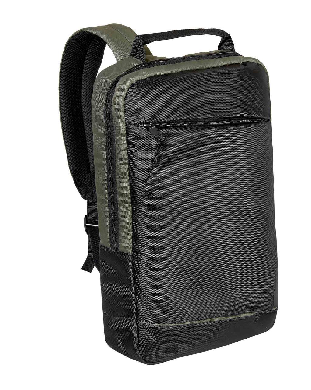 Городской рюкзак для ноутбука черный-хаки Surikat 18л. (мужские рюкзак