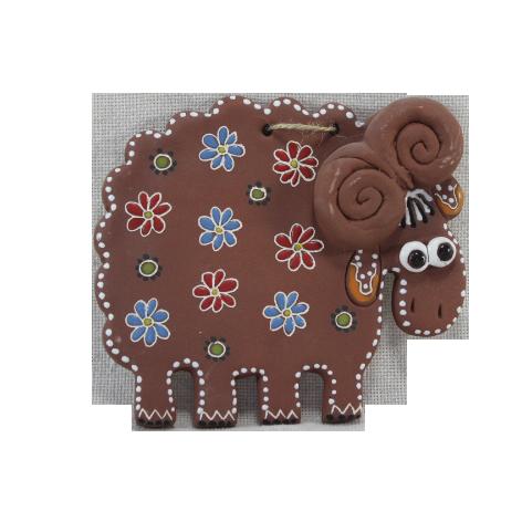 Сувенир керамический «Баранчик лепной»