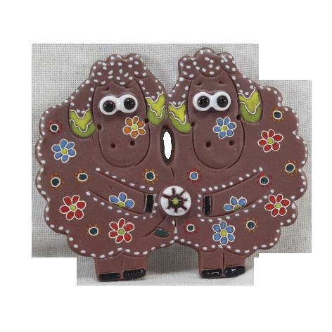 Сувенир керамический «Овечки»