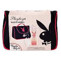 Набор женский Playboy PLAY IT LOVELY (туалетная вода 75 мл,гель для душа 250 мл и косметичка) Франция
