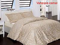 """Комплект постельного белья FIRST CHOICE Сатин """"Vanessa"""" camel Евро"""
