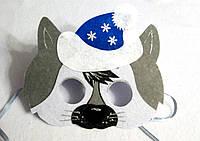 Новогодняя  маска Волка-3