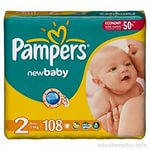 "Подгузник ""Pampers New Baby""  2   ( 100 шт.)  Giga Pack"