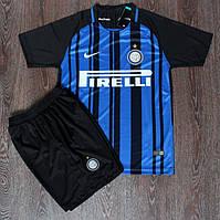 Футбольная форма Интер черно-синяя (сезон 2017-2018)