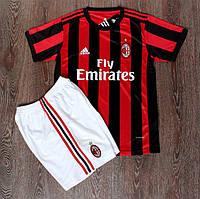 Футбольная форма Милан красно-черная (сезон 2017-2018)