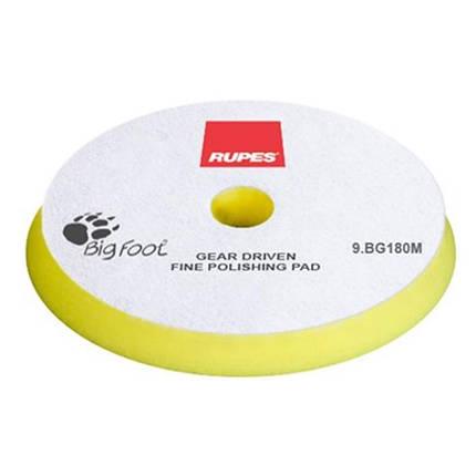 Полировальный круг поролоновый тонкий - Rupes BigFoot mille fine 150/165 мм. желтый (9.BG180M), фото 2