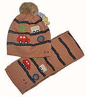 Шапочка и шарфик зимние мальчику