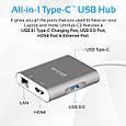 USB Хаб Promate UniHub-C3 Grey, фото 8