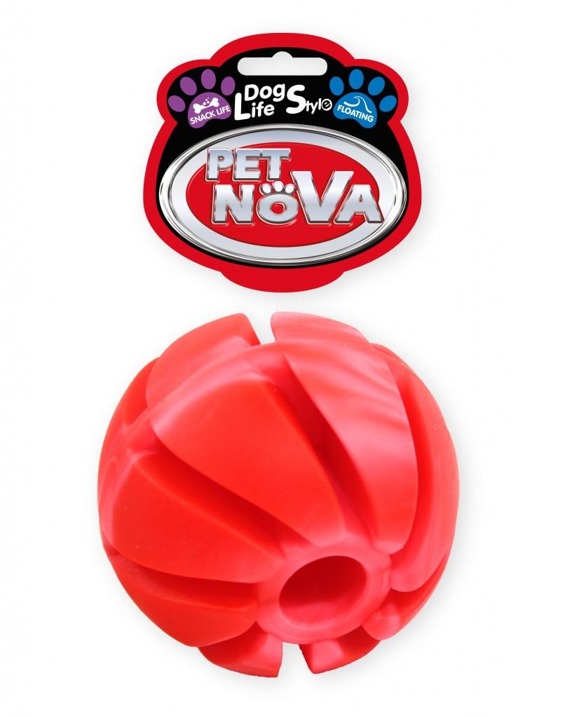 Игрушка для собак Мяч каучуковый SnackBall Vannila Pet Nova 7 см (XL)