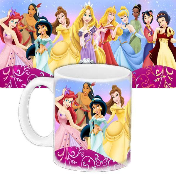 Детская чашка подарок с принтом Принцессы диснея