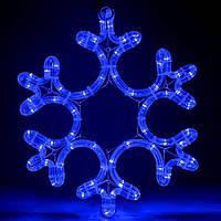 Светодиодная фигура Снежинка 30см, IP44 Синий