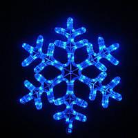 Светодиодная фигура снежинка 42см, IP44 Синий